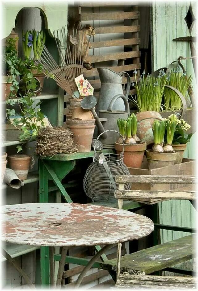 Pin By Gill Chamberlain On Gardening Potting Tables Potting Bench Garden Room Vintage House