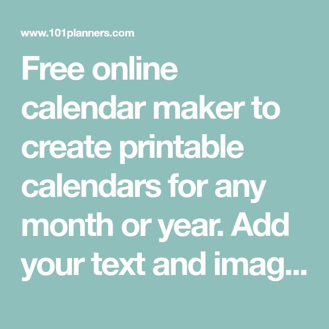 41+ Free online calendar maker Latest News