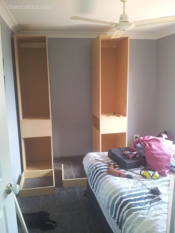 Small Bedroom Project   Wardrobe, Storage And Organzation Solution    Sawdust Girl®