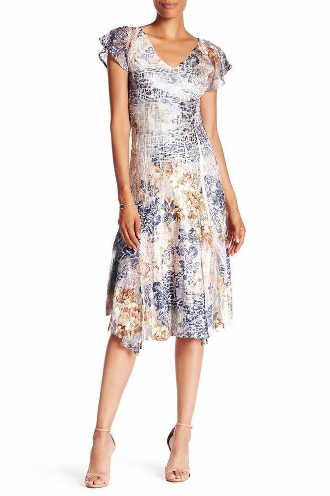 KOMAROV Flutter Sleeve Print Dress #Komarov   Dresses ...