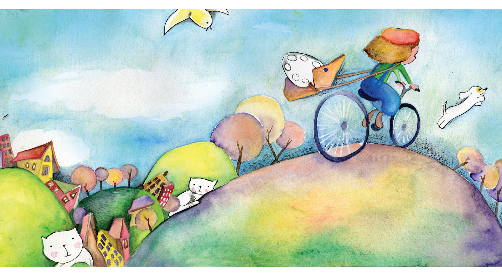 Little Boy And The Rainbow Children S Book Children Book Illustration Watercolor Watercolor Books Book Illustration