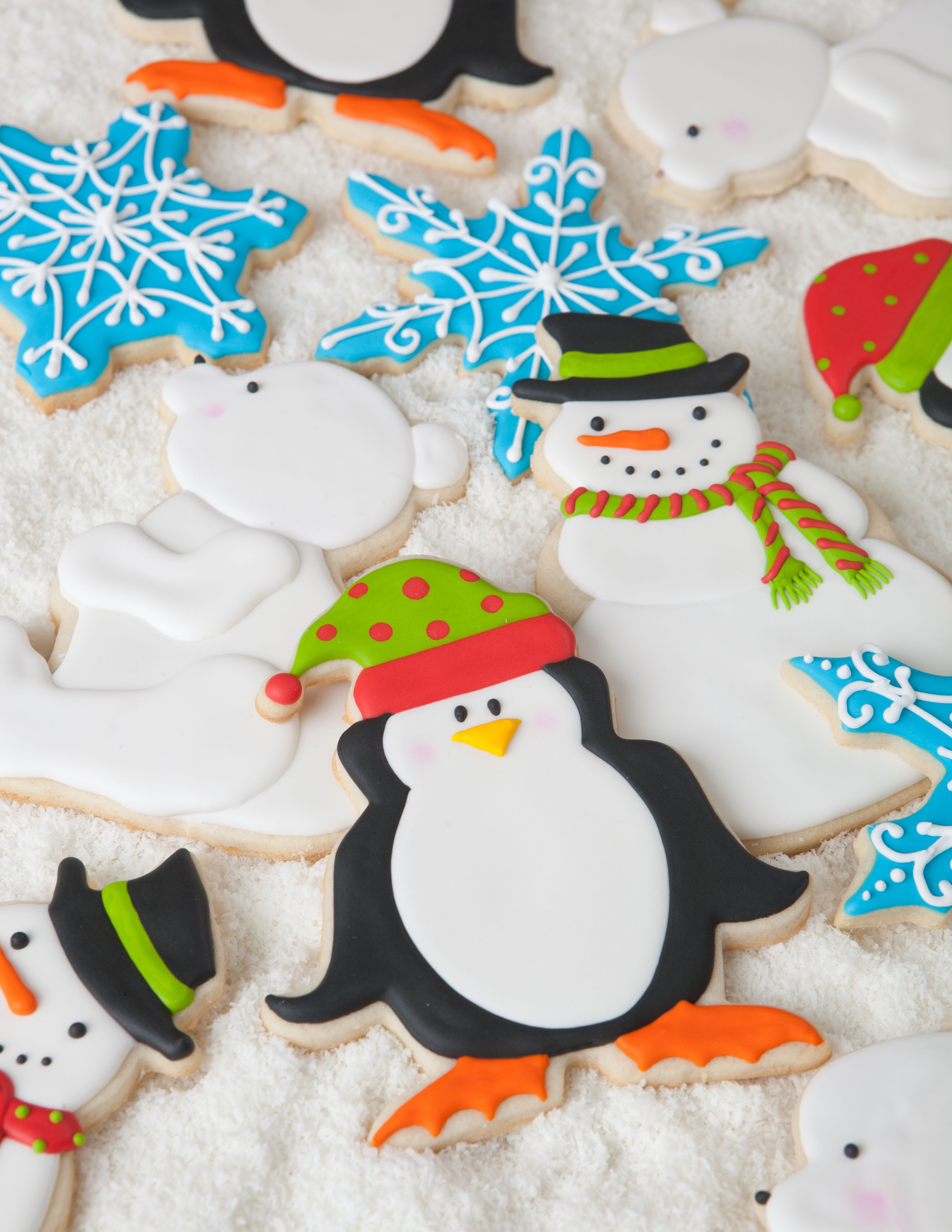 Penguin Polar Bear And Snowman Cookies