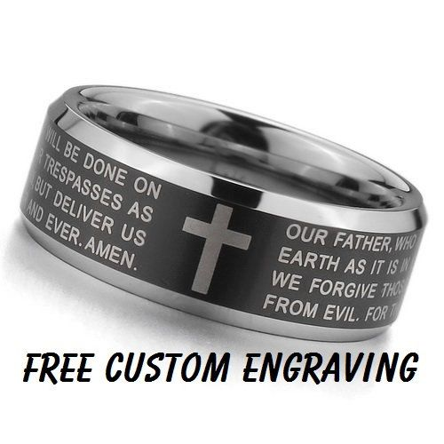 Top Quality TUNGSTEN Carbide The Lord's Prayer by Cloud9Tungsten