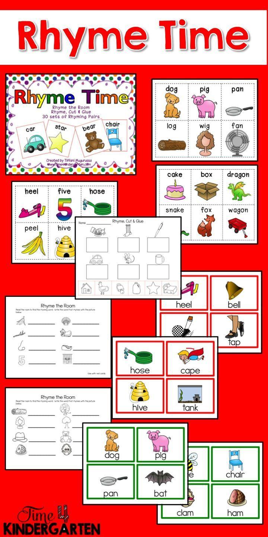 Rhyming Activities And Worksheets For Phonological Awareness Rhyming Activities Teaching Kindergarten Sight Words Literacy Activities Kindergarten [ 1440 x 720 Pixel ]