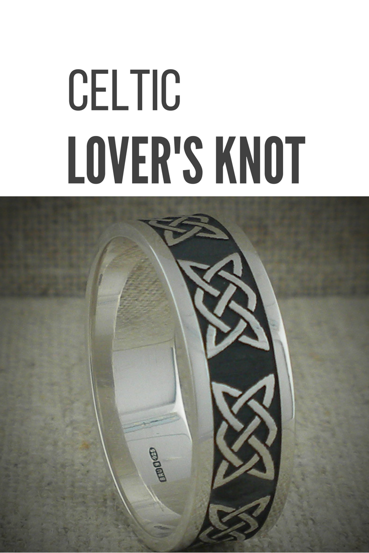 Sterling Silver Celtic Love Knot Wedding Ring With An Oxidized Background Made In Ireland By Boru 6 Mm Or 7 For Both Ladies And Gents: Cross Backround Wedding Bands At Websimilar.org