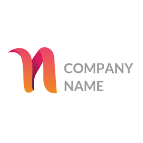3d Orange Letter N Logo Design Logos N Logo Design