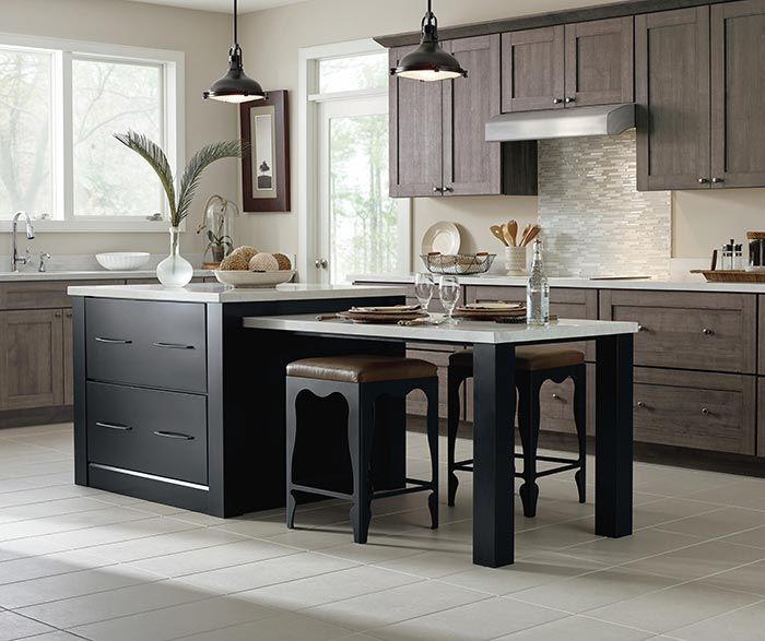 Herra Laminate kitchen cabinets in Elk Textured PureStyle, along ...