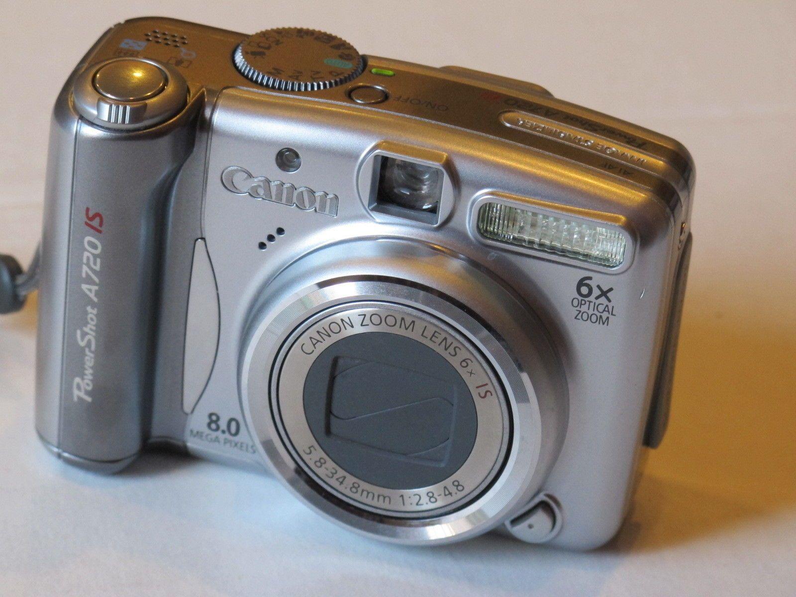 Canon Powershot A720 Is 8 0 Megapixel Digital Camera Silver With 2gb Mem Card Digital Camera Powershot Canon Powershot