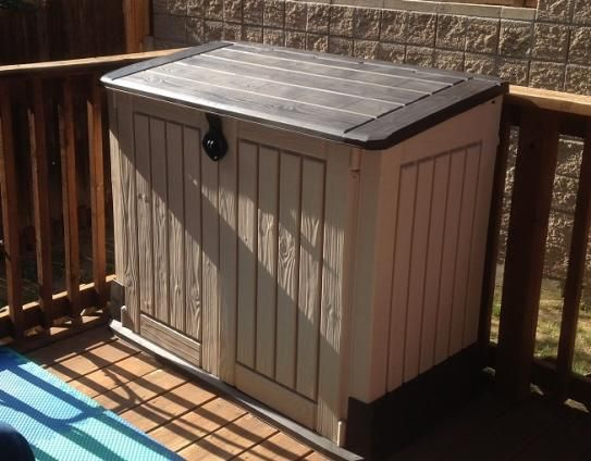 Keter 4 Ft X 2 Ft Store It Out Midi Horizontal Resin Shed 211166 The Home Depot Resin Sheds Hot Tub Backyard Shed