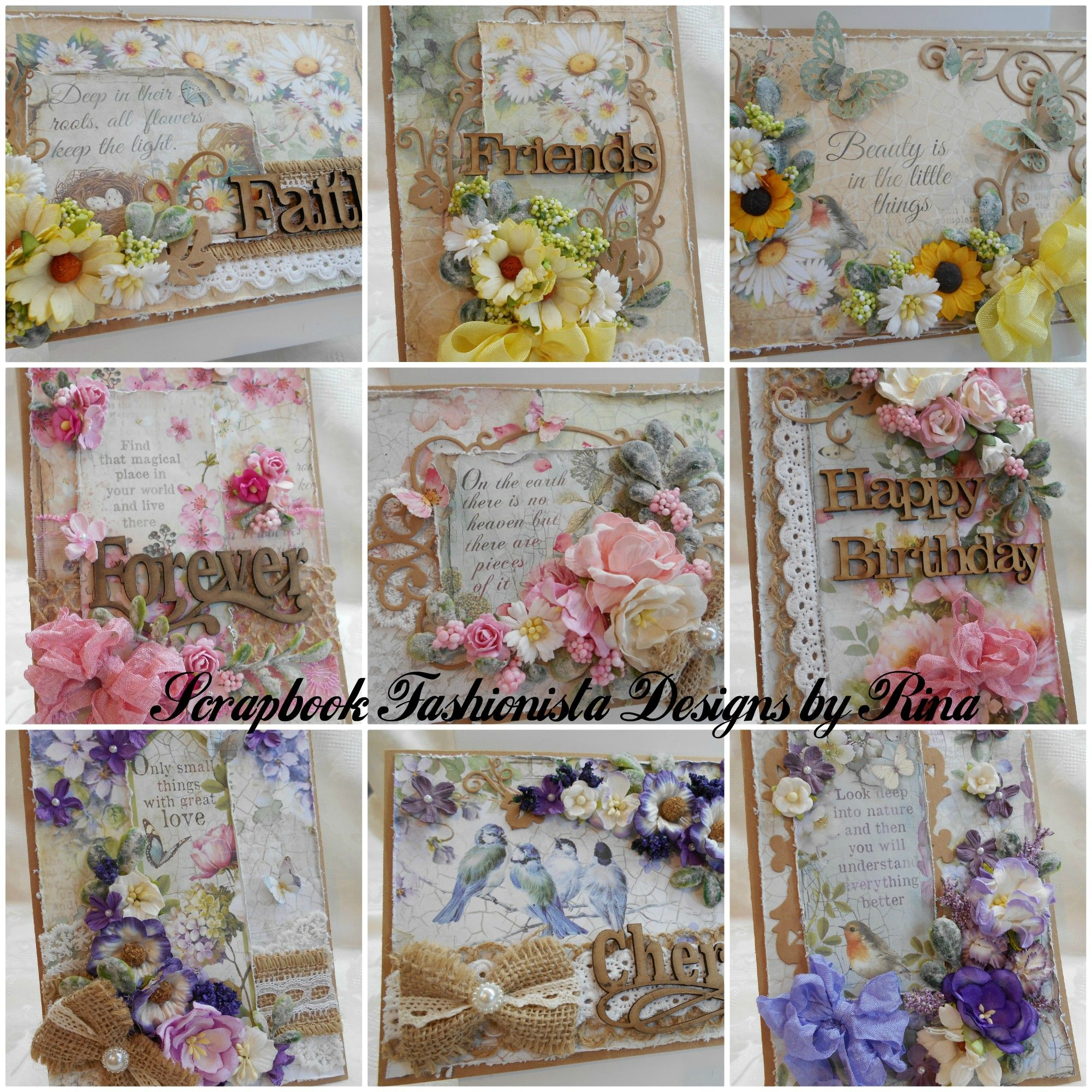 Love Creating With Kraft Paper And Beautiful Stamperia Papers From Asc Supplies Rustic Farmhouse Style Folded Cards Shabby Chic
