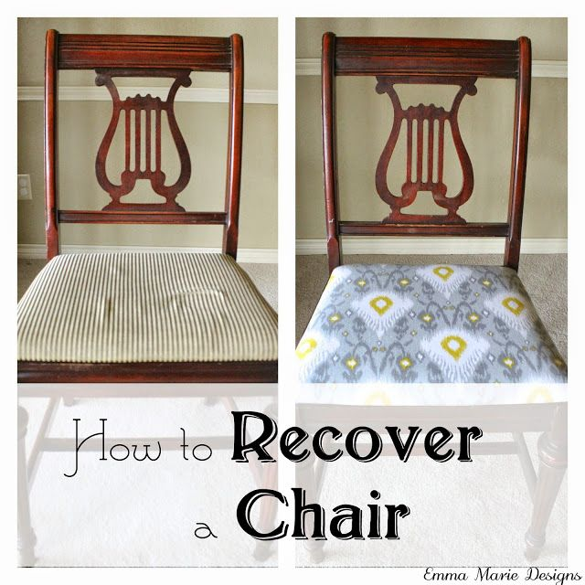 How To Recover A Chair. Written In Simple, Easy To Follow