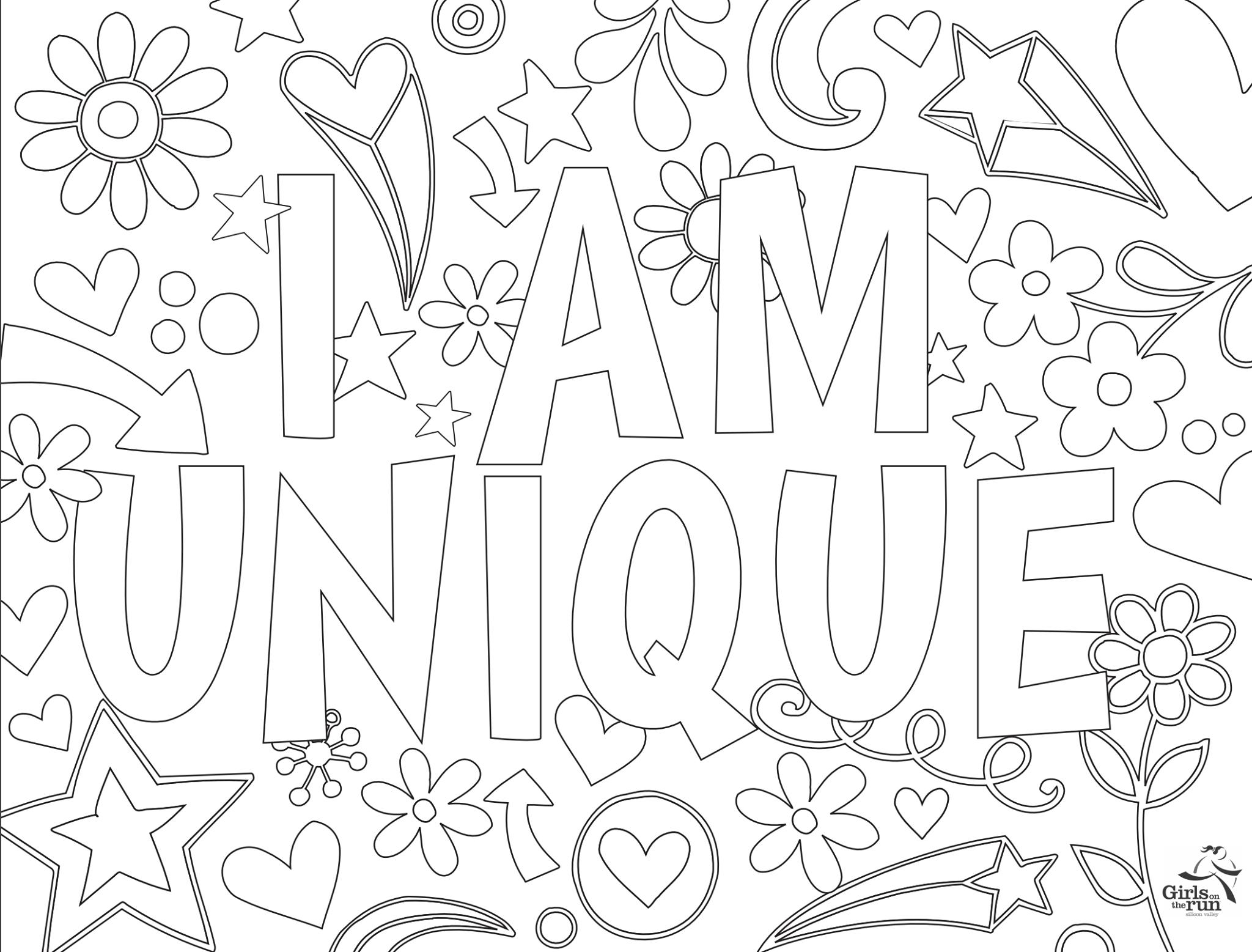 I Am Unique Coloring Page Unique Coloring Pages Coloring Pages I Am Unique