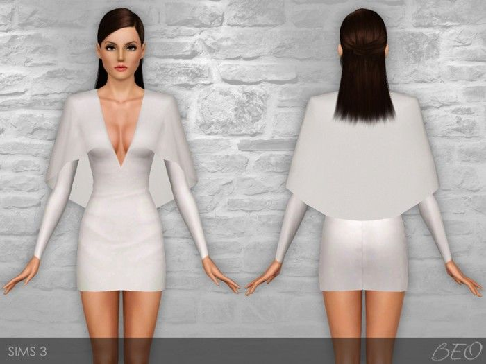 CAPE DRESS by BEO - Sims 3 Downloads CC Caboodle | Sims 3 clothing ...