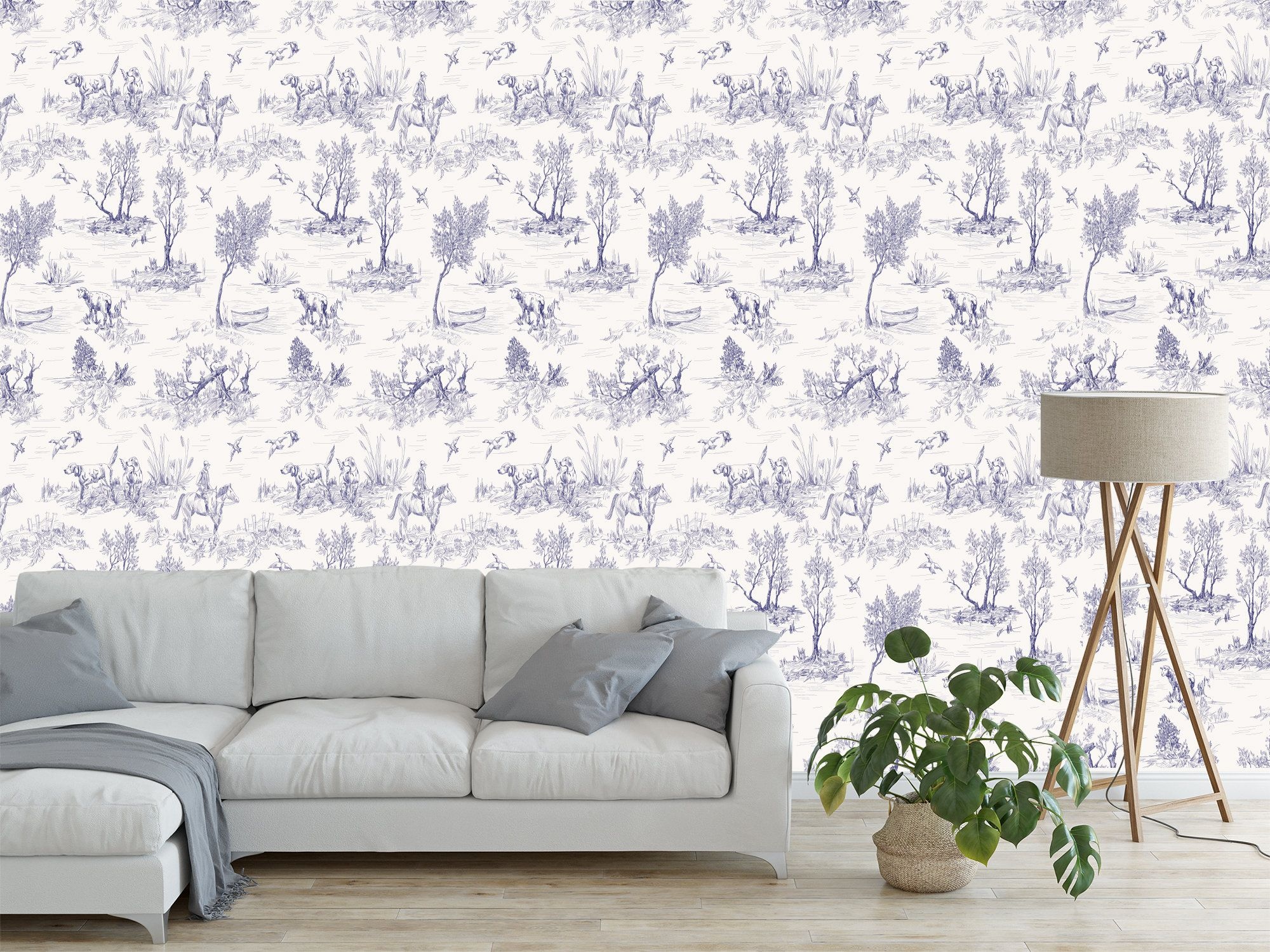 Peel And Stick Wallpaper Self Adhesive Wallpaper Removable Wallpaper Wall Decor Toile Blue In 2020 Wallpaper Walls Decor Wall Wallpaper Peel And Stick Wallpaper