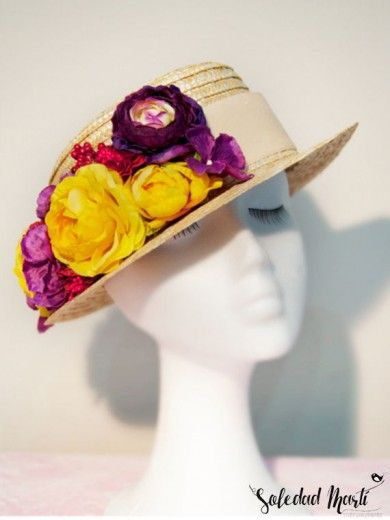 Comprar Canotier de flores  a6f0257fbb7