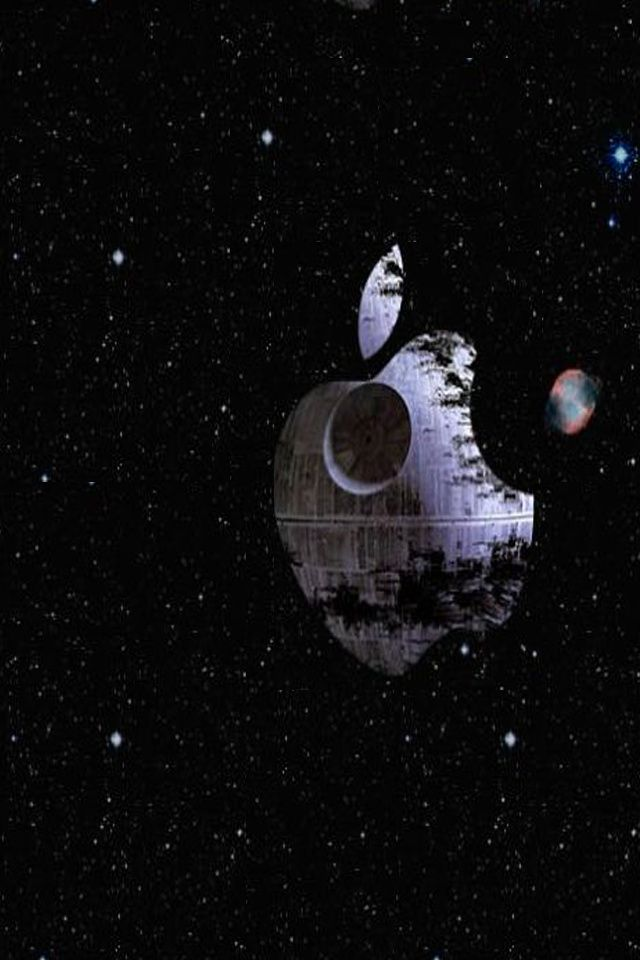 Download Free For Iphone Logos Wallpaper Apple Deathstar Death Star Wallpaper Wallpaper Iphone Logo