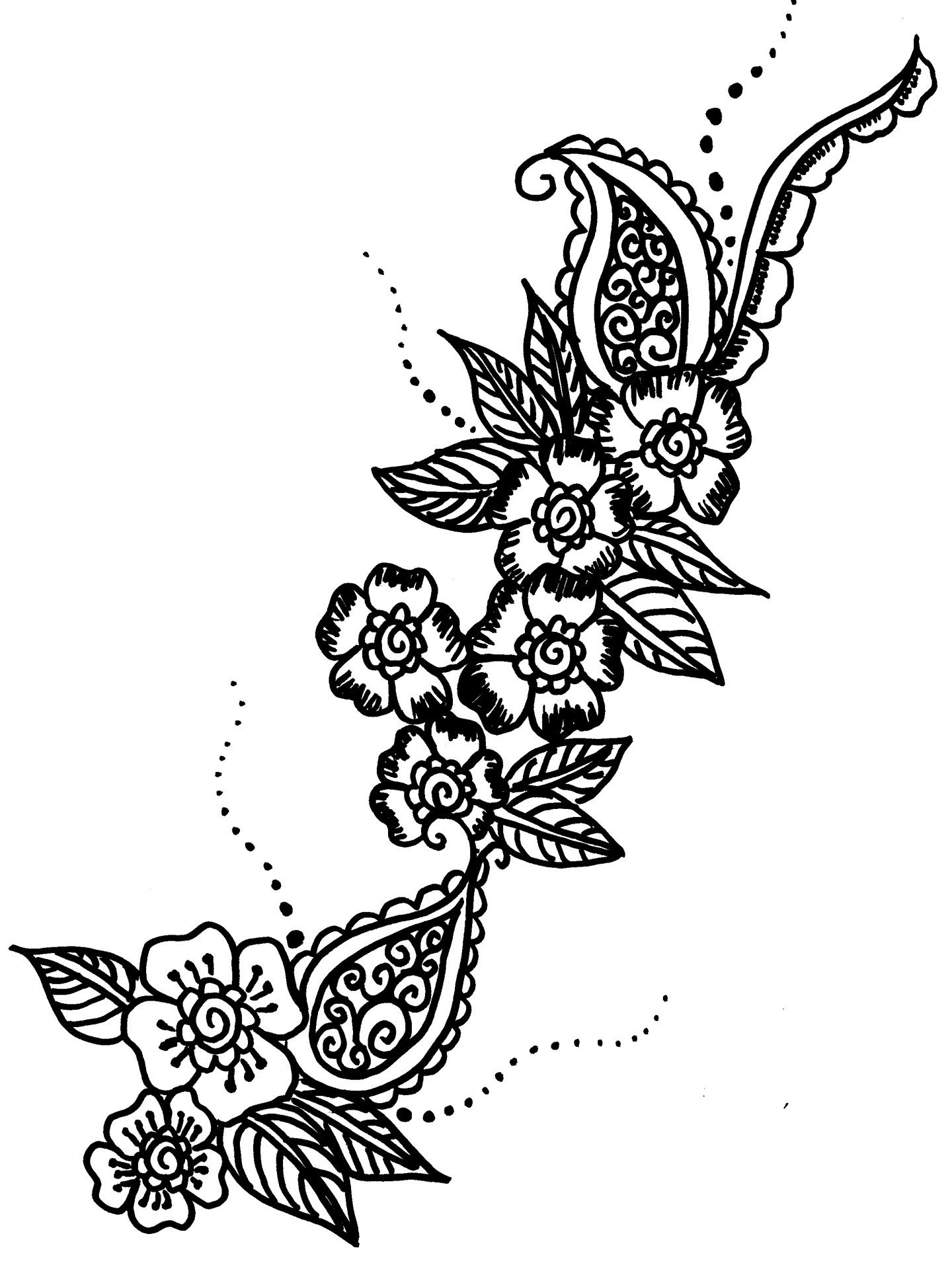 Full size image of henna lotus flower designs flowers and paisley full size image of henna lotus flower designs flowers and paisley henna flower tattoo designs at 1440x1923 uploaded by kort 2 izmirmasajfo