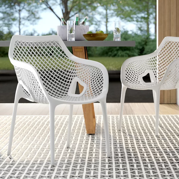 Deines Stacking Patio Dining Chair Patio Dining Chairs Dining Chairs Dining Chair Cushions