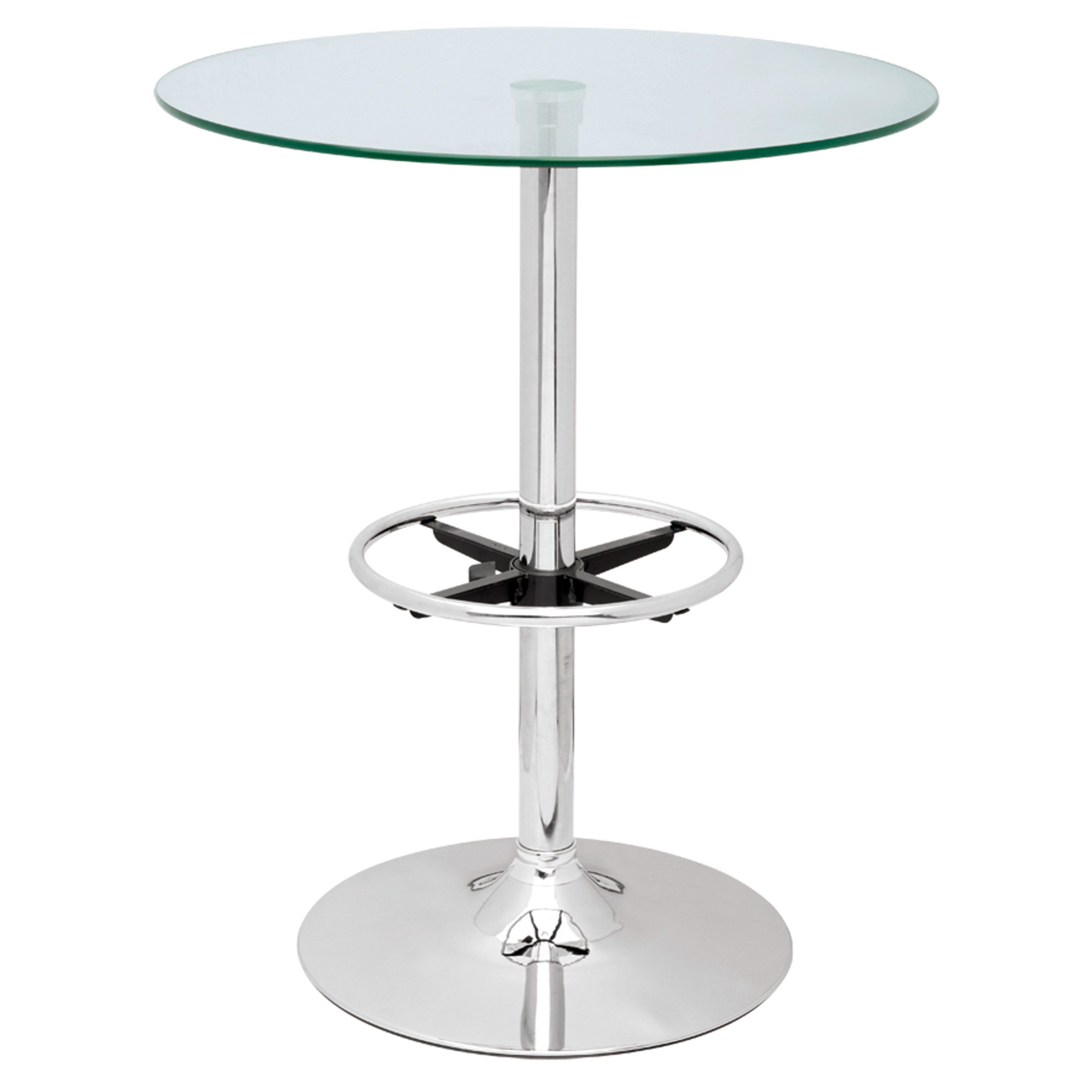Chintaly Modern Round Glass Top Pub Table   $248.82 @hayneedle