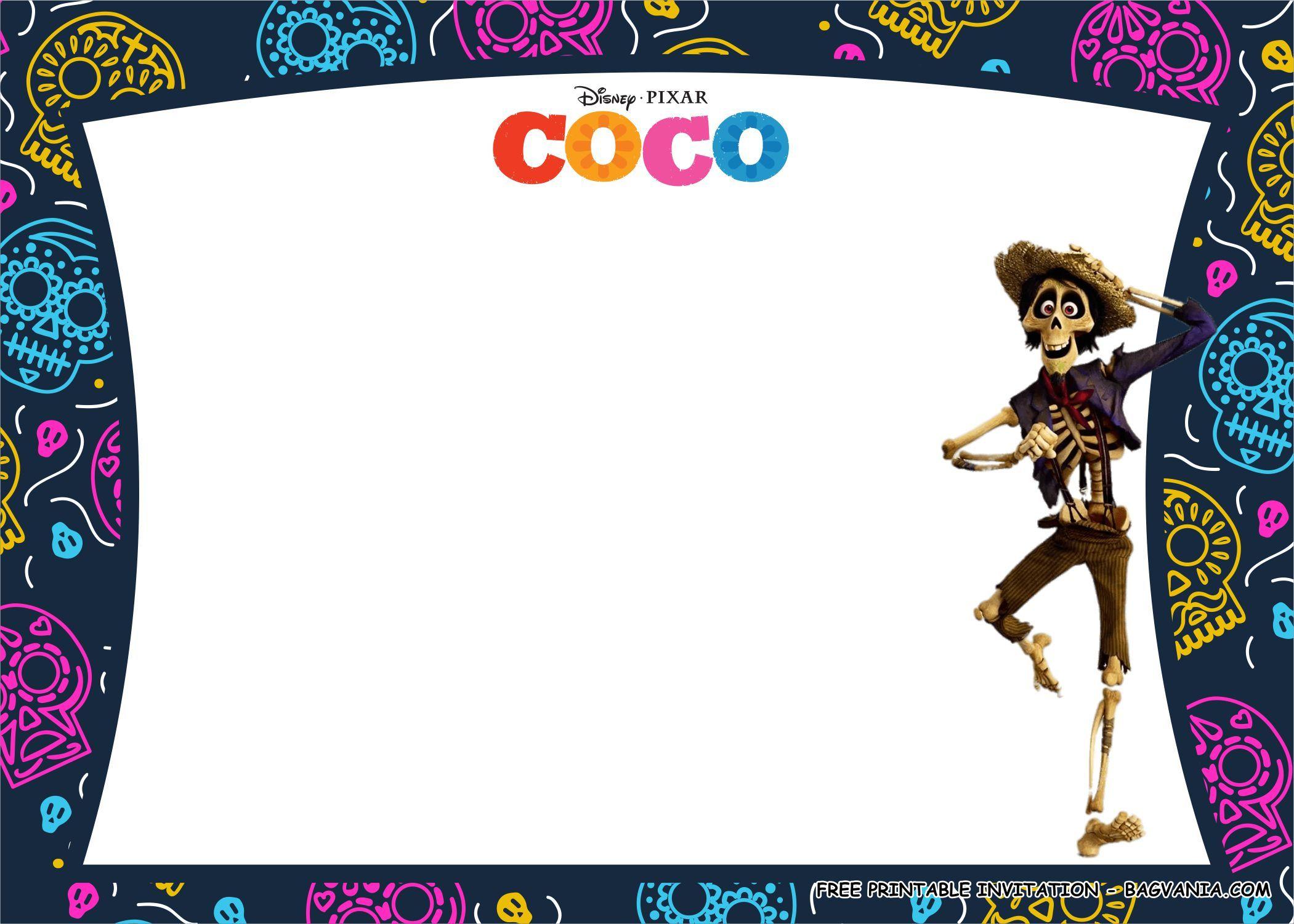 Free Printable Disney Coco Birthday Party Kits Template Birthday Party Kits Free Printable Birthday Invitations Free Birthday Invitation Templates