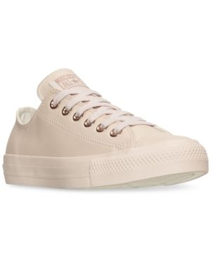 d865a98fae03 Converse Women s Chuck Taylor Pastel Leather Ox Casual Sneakers from Finish  Line - Pink 10