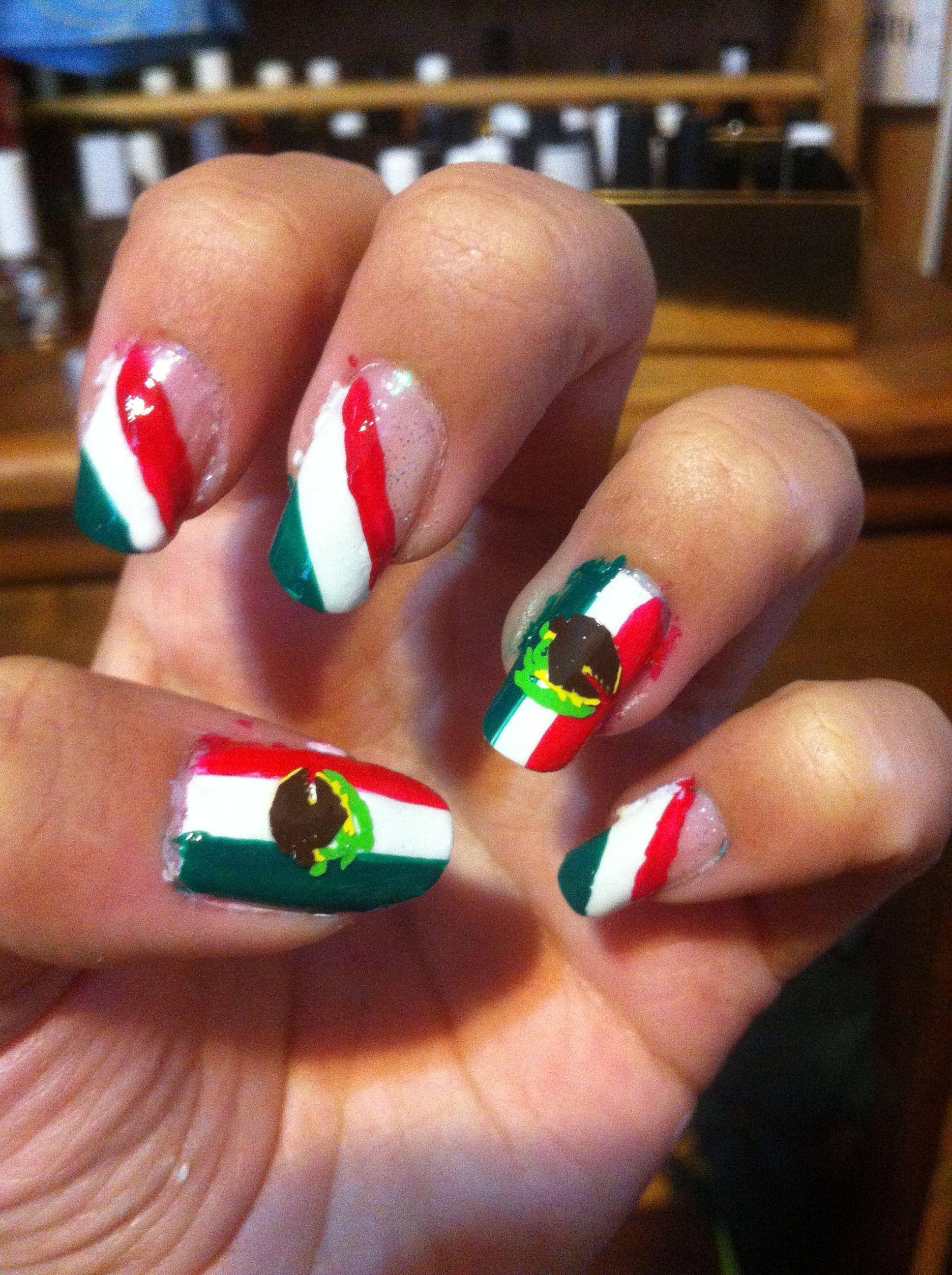 Uñas bandera de México, Independencia de México. | Nails | Pinterest