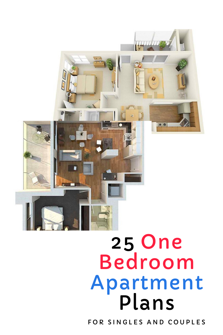 25 One Bedroom Apartment Plans For Singles And Couples Minimalist Apartment Decor Simple Apartments Apartment Decor