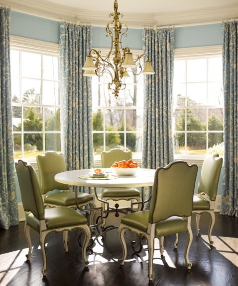 For My Octagon Breakfast Room Curtains Dining Room Windows French Country Dining Room Home