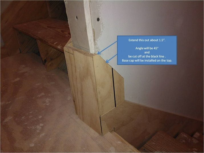How To Transition From Stair Skirt Board To Base Board Stairs Skirting Stair Skirt Board Baseboards