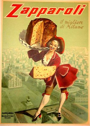 Vintage Italian Poster for Pannetone  | Design, Style And