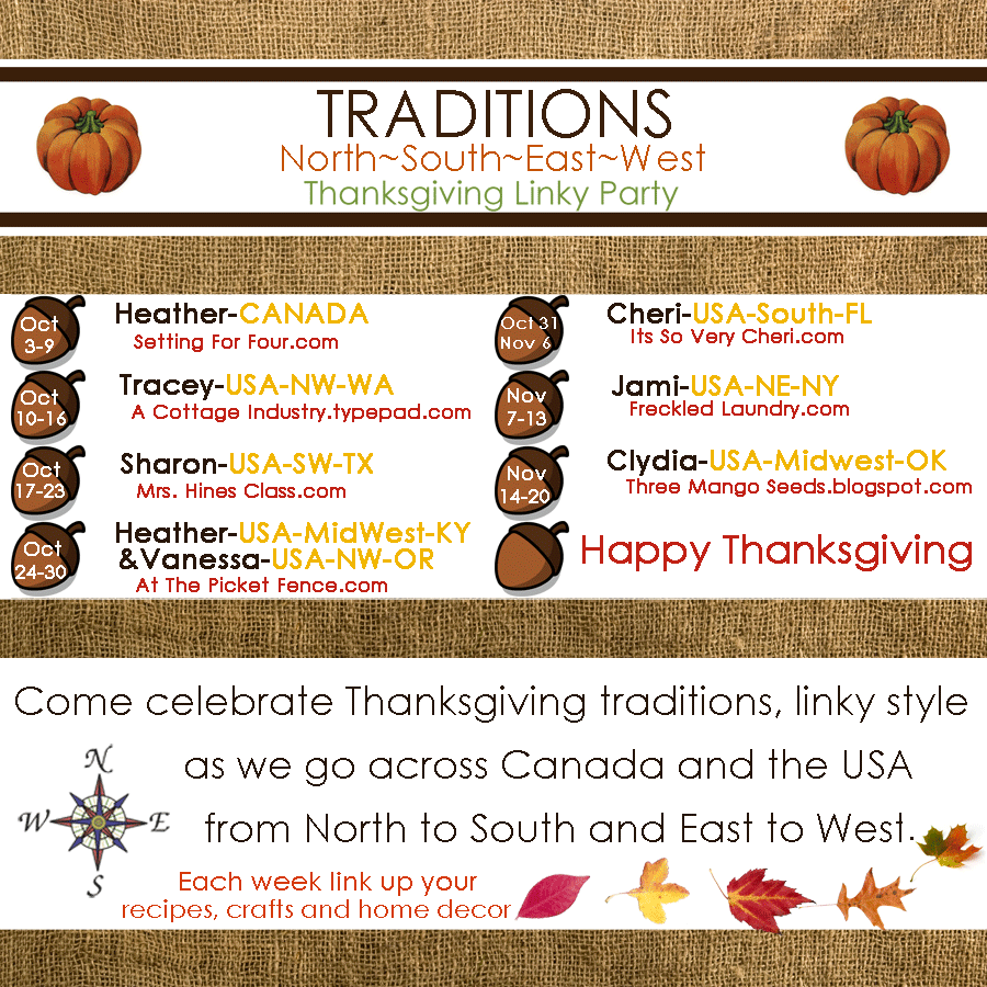 Thanksgiving Traditions N S E W Linky Party New Don T Miss It October 3rd Thanksgiving Traditions Thanksgiving Tablescapes Linky Party