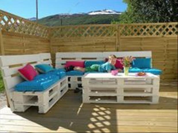 Terrassenmöbel  Tolle Terrassenmöbel aus Paletten | recycling | Pinterest | Hats and D