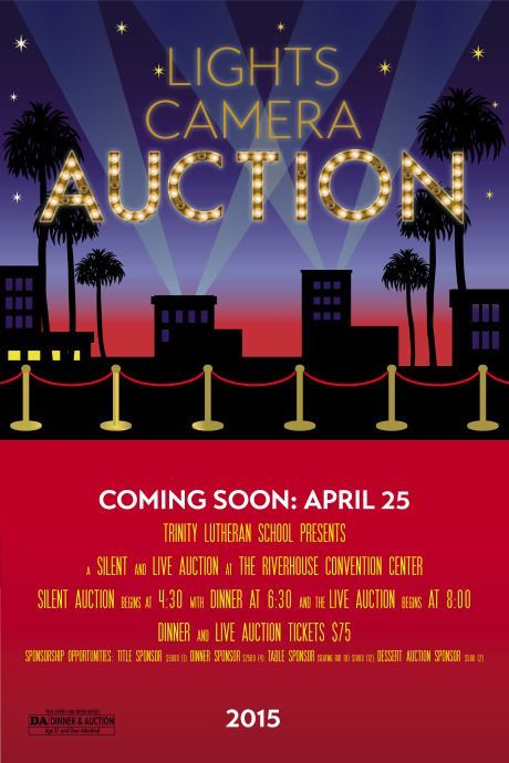 hollywood lights  red carpet  movie themed auction