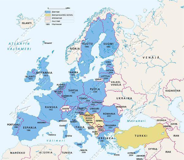 Euroopan Maat Kartta