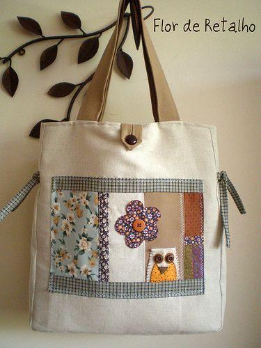 1186e901d Bolsa patchwork : COrUJiNhA | aplicaciones | Patchwork bags, Bags y ...