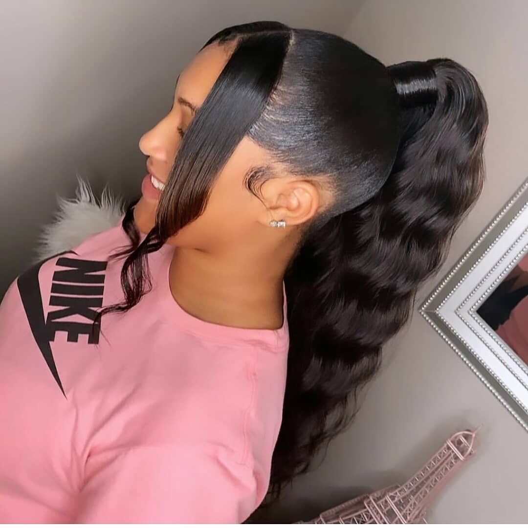 Just For Hairs On Instagram Beautiful Tag The Source Tag Ur Friends Braids Edges Hair Hair Ponytail Styles Slick Hairstyles Hot Hair Styles