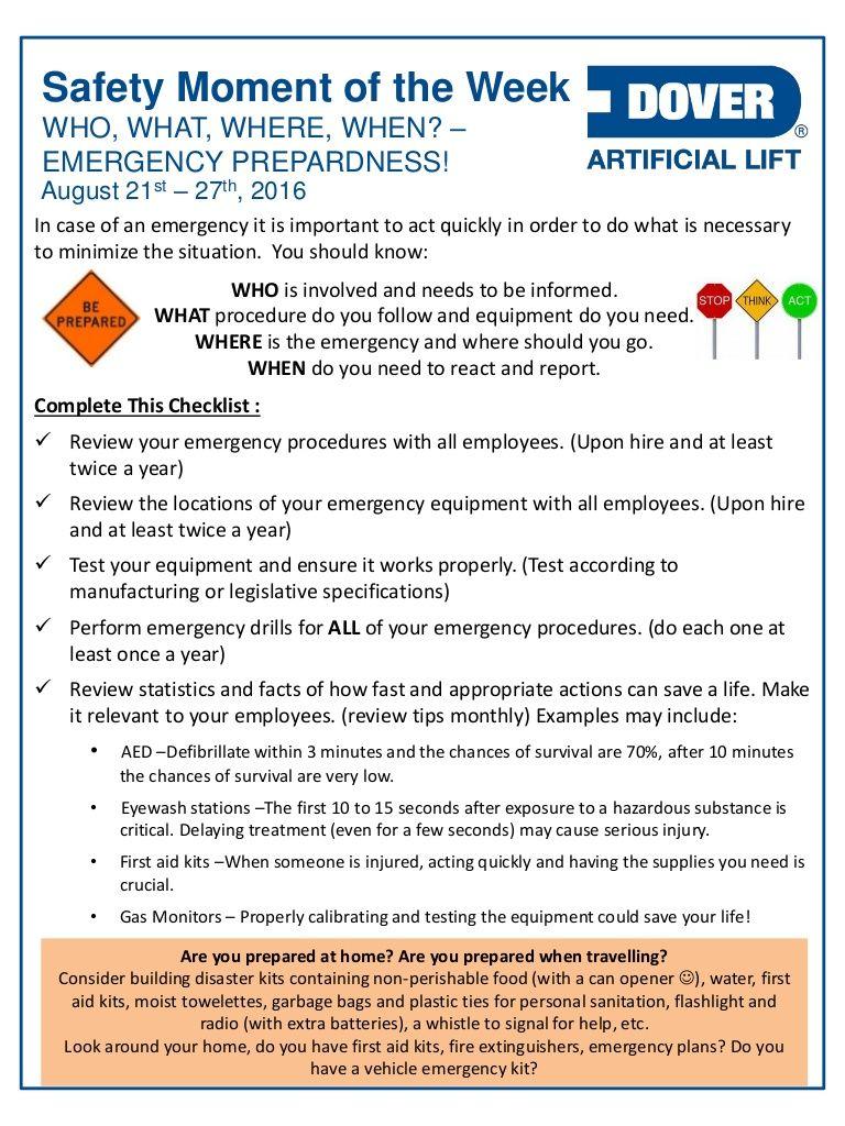 Who, What, Where, When? Emergency Preparedness! Alberta