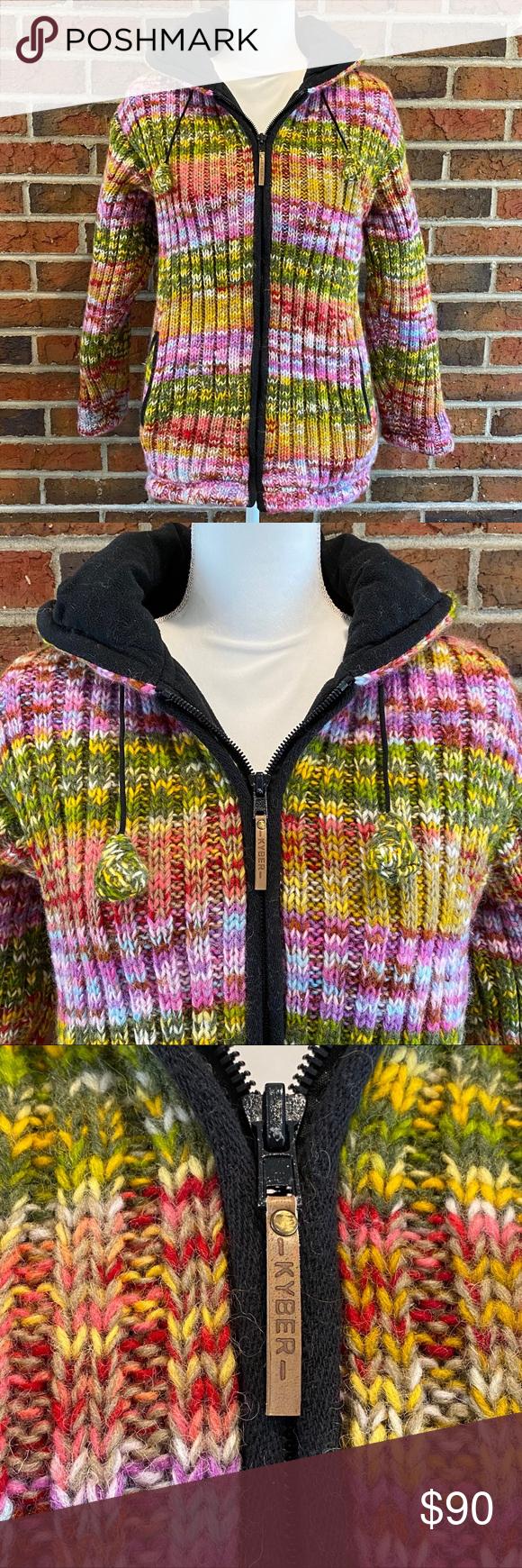 Kyber Outerwear Wool Fleece Lined Jacket Size L Line Jackets Outerwear Clothes Design [ 1740 x 580 Pixel ]