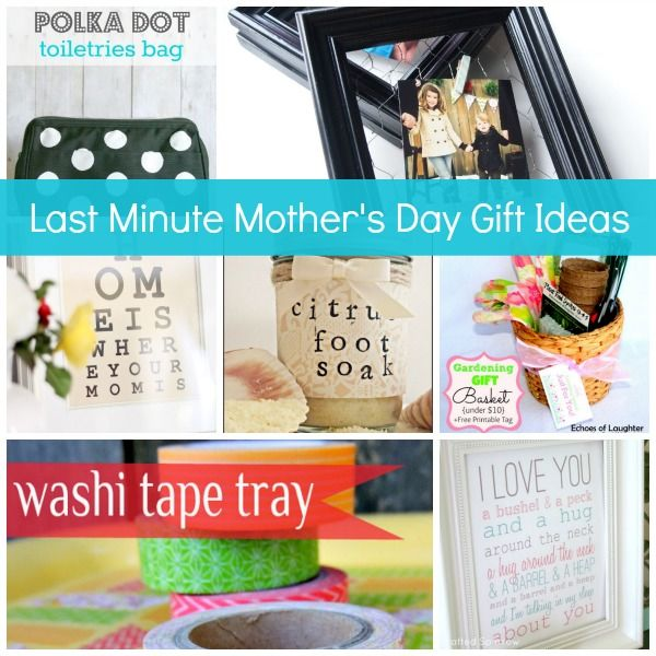 Show & Tell No. 46: Last Minute Mother's Day Gifts