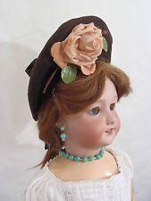 старинный оригинальный французский шерстяной чепчик для Jumeau Bru Steiner Doll