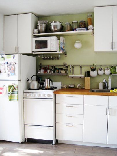 Small Kitchen Designs 10 Organized, Efficient and Tiny Real-Life