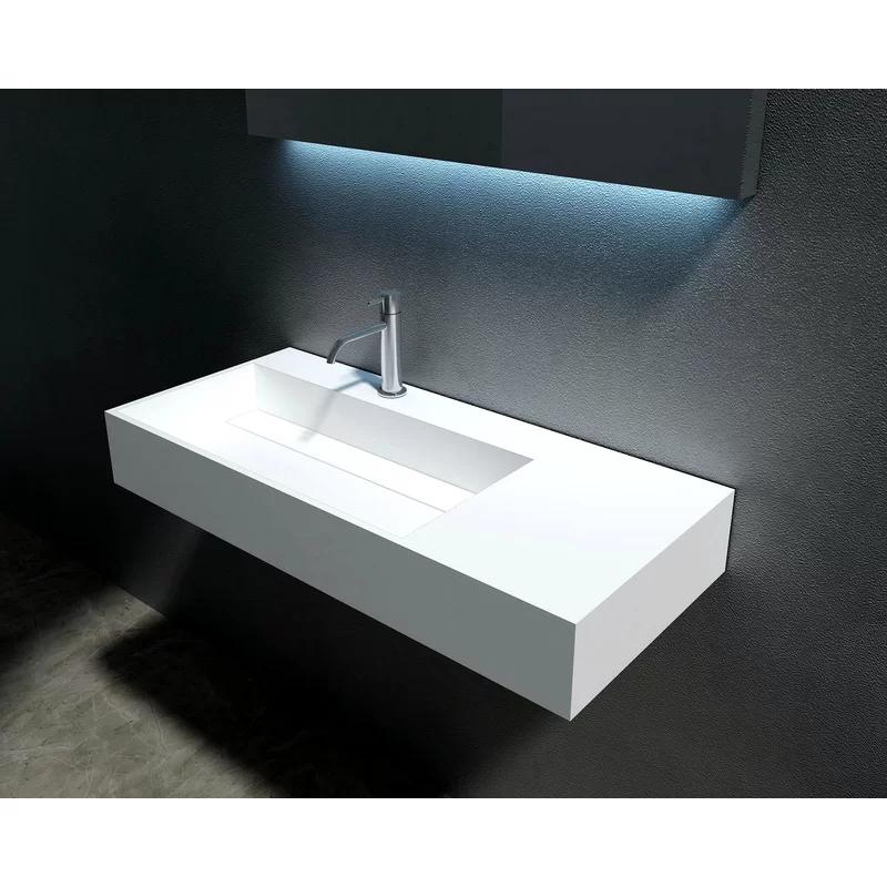 Boyter Stone 35 Rectangular Wall Mount Bathroom Sink In 2020
