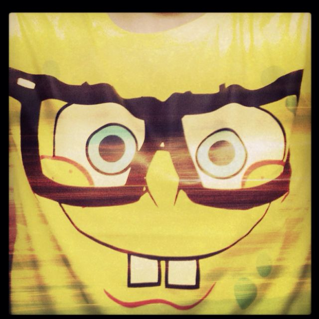 Spongebob wore those glasses way before hipsters did.