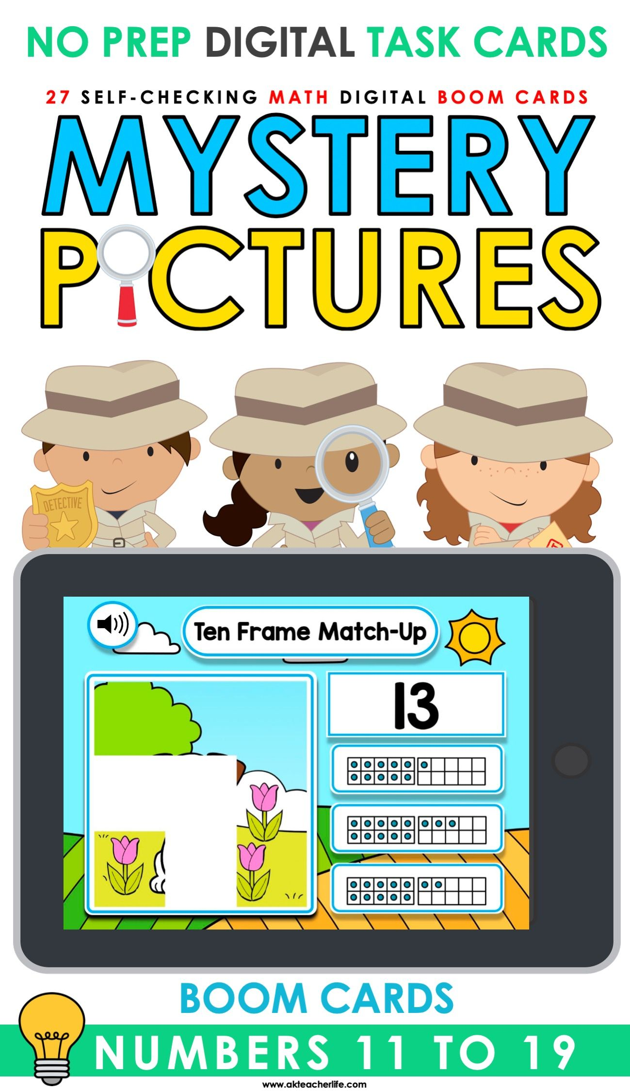 Boom Cards Digital Math Numbers 11 To 19 In