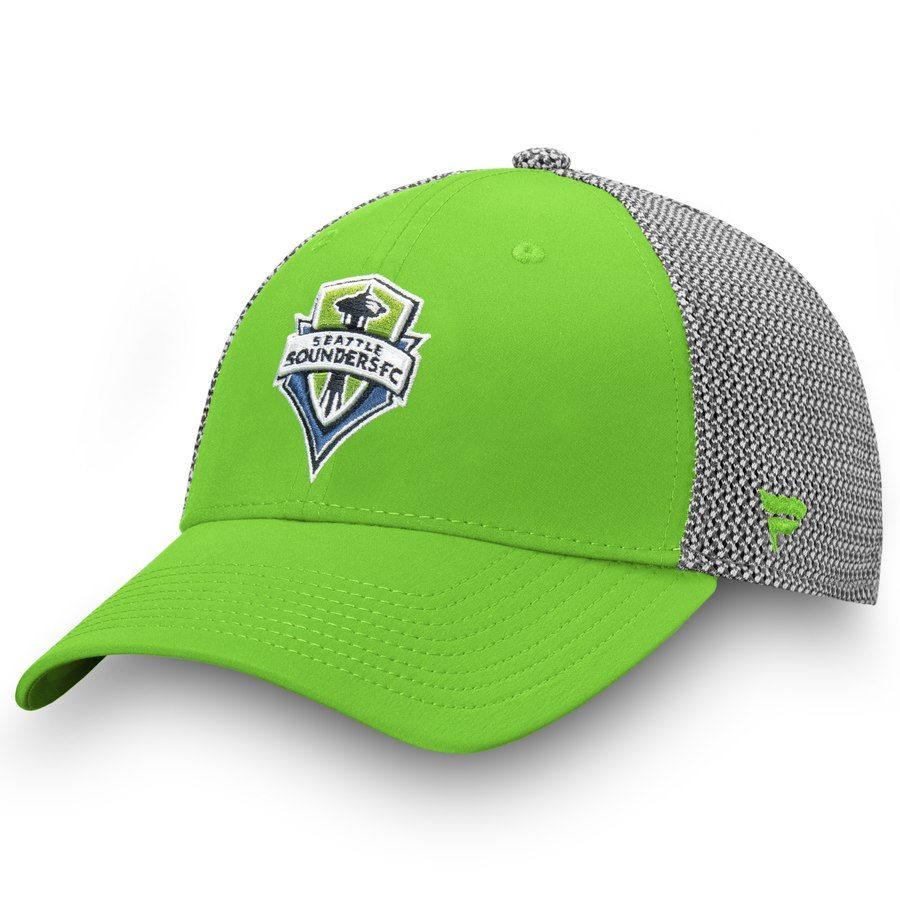 5804e4c1a3ceb0 Men's Seattle Sounders FC Fanatics Branded Rave Green/Gray Versalux Speed  Flex Hat, Your