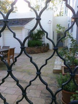 Courtyard Entry Gates Sacramento Mediterranean Garden
