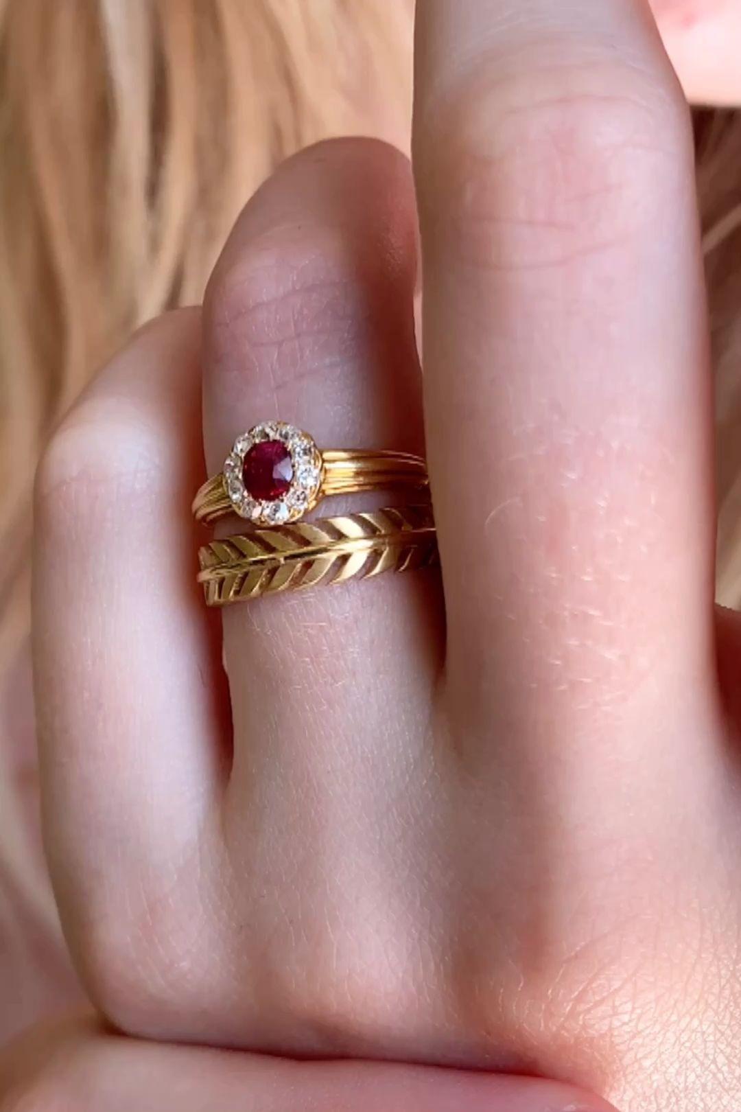 EDWARDIAN RUBY AND DIAMOND VINTAGE RING | Erstwhil