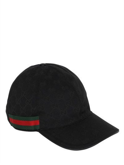timeless design 2ea42 e9536 GUCCI Original Gg Canvas Baseball Hat, Black.  gucci  hats. Find this Pin  and more on Gucci Men by ModeSens.