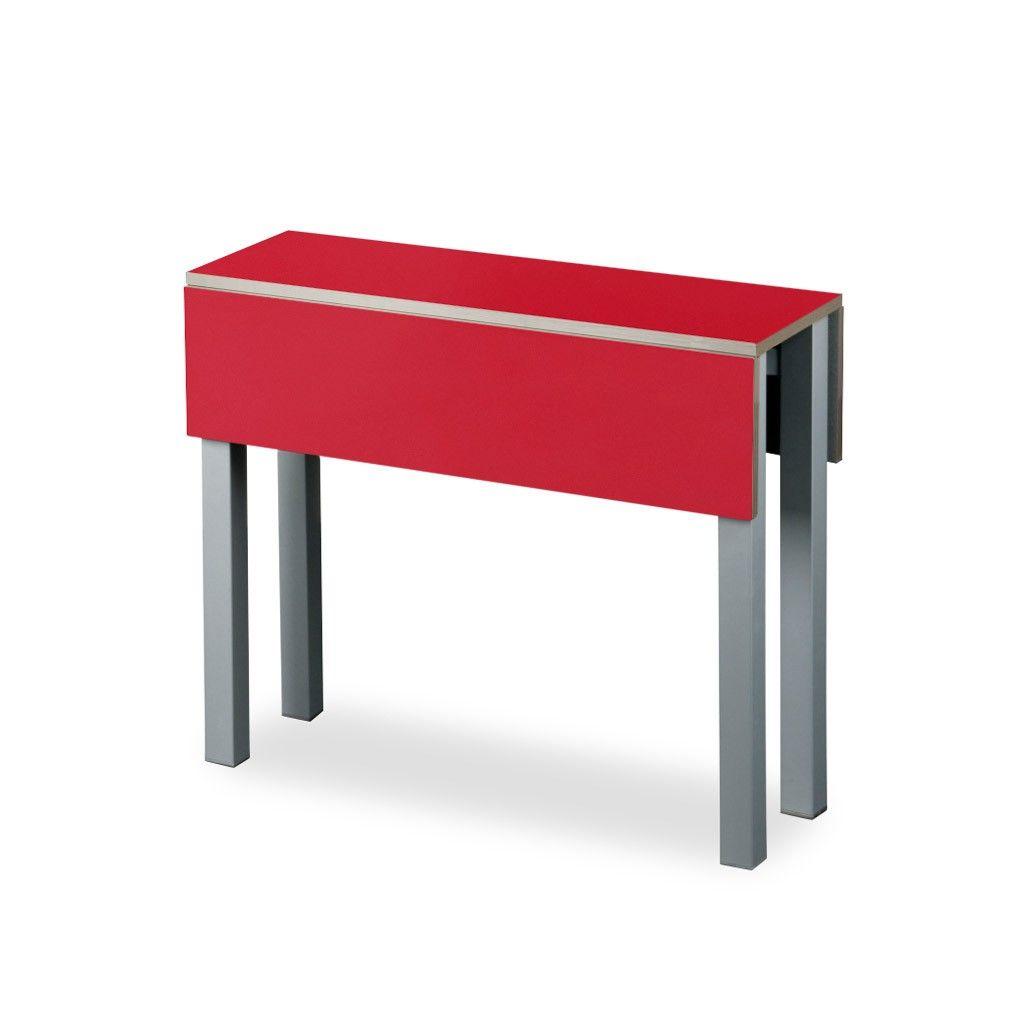 Mesa plegable para cocina modelo Belloc en laminado de color ...