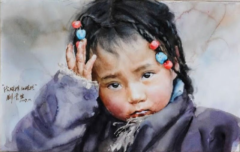 Watercolor Paintings By Chinese Artist Liu Yungsheng Watercolor